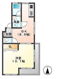 サンハイツKANEKO[1階]の間取り