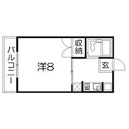 静岡県浜松市中区住吉5丁目の賃貸マンションの間取り