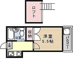 ケーズ山科[107号室号室]の間取り