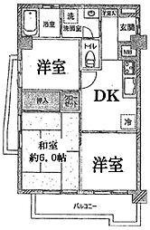 サンライフカミイタ[3階]の間取り