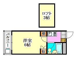 ジュネパレス津田沼第29[2階]の間取り