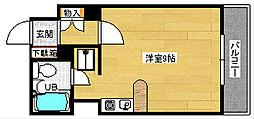 広島県広島市中区南竹屋町の賃貸マンションの間取り