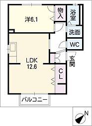 ハムレットA棟[2階]の間取り