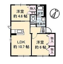 シャーメゾン藍住[A101号室]の間取り