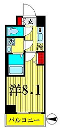 JR総武線 錦糸町駅 徒歩12分の賃貸マンション 5階1Kの間取り