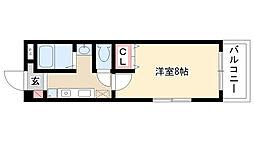 愛知県名古屋市天白区植田南2の賃貸マンションの間取り