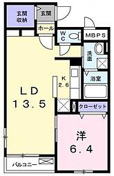 東京都三鷹市野崎2丁目の賃貸マンションの間取り