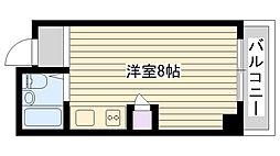 KBCマンション[601号室]の間取り