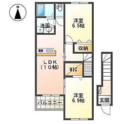 (仮称)茂原市東郷新築アパート[203号室]の間取り