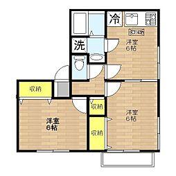 コート・ドール B[1階]の間取り
