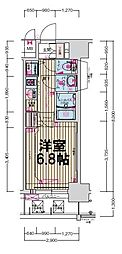 大阪府大阪市西区立売堀6丁目の賃貸マンションの間取り