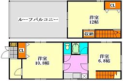 [一戸建] 千葉県船橋市二和東2丁目 の賃貸【千葉県 / 船橋市】の間取り