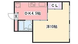 枝川ハイツ[402号室]の間取り