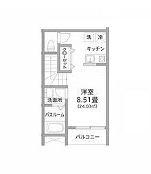PARK TERRACE 新松戸[202号室]の間取り