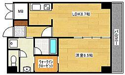 グレース帝塚山[7階]の間取り