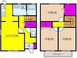 [テラスハウス] 兵庫県神戸市東灘区青木5丁目 の賃貸【/】の間取り