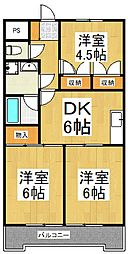 JUN谷戸ハイツ[4階]の間取り