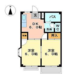 エレガンスハイツ3[2階]の間取り