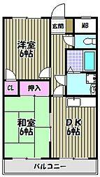 メゾンモンブラン[4階]の間取り