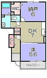 近江鉄道近江本線 愛知川駅 徒歩21分の賃貸アパート 1階1SDKの間取り
