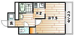 エース八幡マンション[10階]の間取り