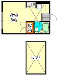 ピュアハウス三山[102号室]の間取り