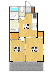 シオン北方[1階]の間取り