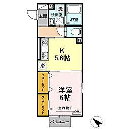 (仮)D-room西本町 B棟[101号室]の間取り