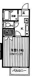 シェルブール日野[1階]の間取り