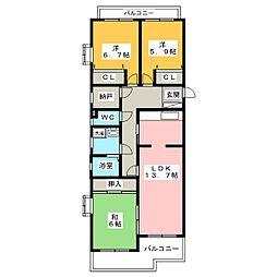 グランドメゾン新瑞東 A-2[2階]の間取り