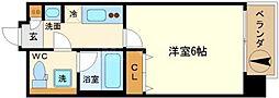 LC難波[8階]の間取り