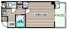 大阪府大阪市北区中津3の賃貸マンションの間取り