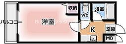M'プラザ竜田通 3階1Kの間取り