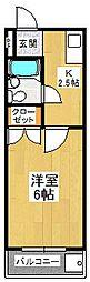 大阪府堺市東区丈六の賃貸マンションの間取り