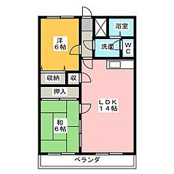 ストークハウスU[1階]の間取り