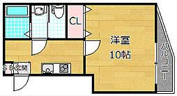 カーサ・ルチア宮之阪[3階]の間取り