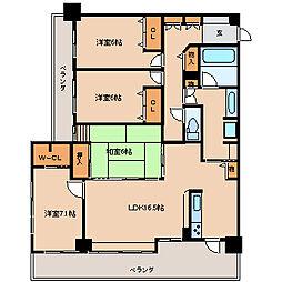ロフティ諏訪野[6階]の間取り