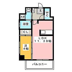 ウインステージ箱崎II[10階]の間取り