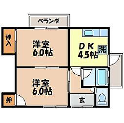 長崎県長崎市青山町の賃貸アパートの間取り