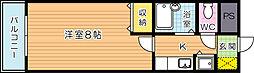 Bergamotto吉野町(ベルガモット吉野町)[10階]の間取り