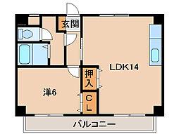 水原マンション[4階]の間取り