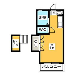 UP-ONE[2階]の間取り