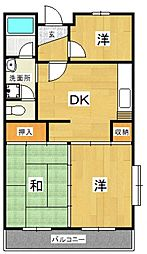 城山・松本マンション[201号室号室]の間取り