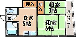 広島県広島市東区山根町の賃貸アパートの間取り