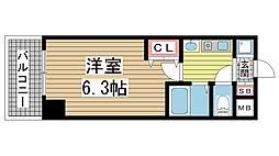 エステムコート新神戸エリタージュ[913号室]の間取り
