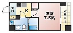 Grandi Rokko Park 6階1Kの間取り