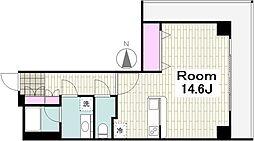 パシフィックロイヤルコートみなとみらいアーバンタワー 3階ワンルームの間取り