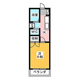 ムッシューマダム[2階]の間取り