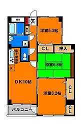 千葉県千葉市中央区青葉町の賃貸マンションの間取り