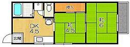 スイートム塚原[2階]の間取り